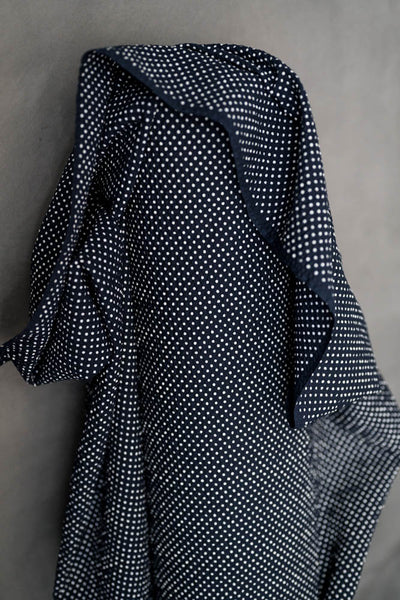 Japanese Moyo Dot Seersucker / Navy