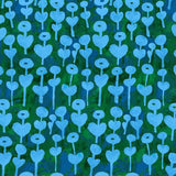 Rayon Challis / Love Flower / Bright Blue