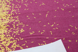 Linen Cotton Canvas / Scattered / Orchid Metallic