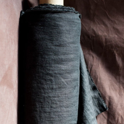 Laundered Linen / Scuttle Black