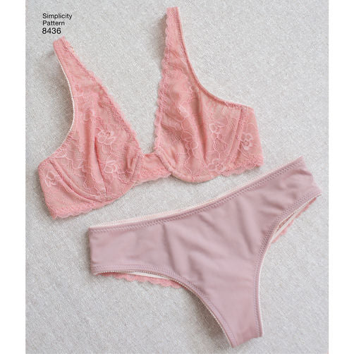8436 Misses Plunge Bra + Panties