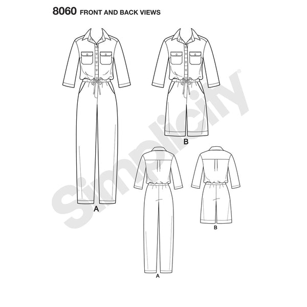 8060 Misses Jumpsuits