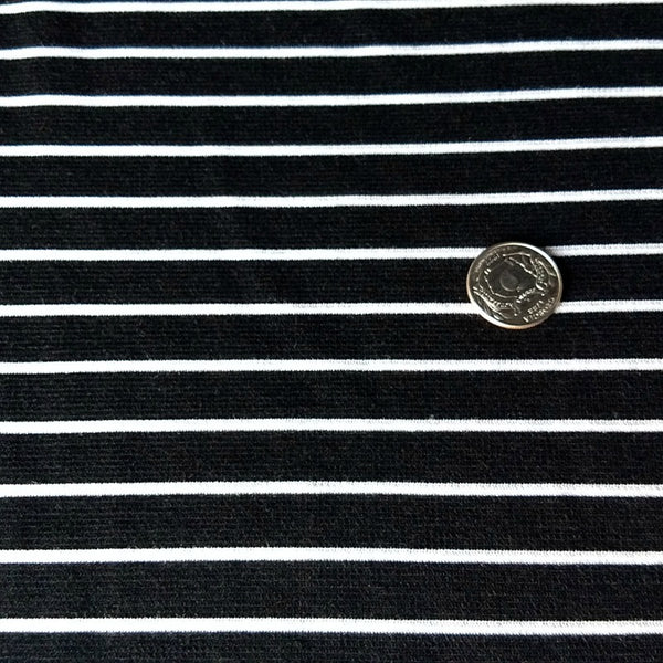 Ponte Knit / Sailor Stripe / Black White