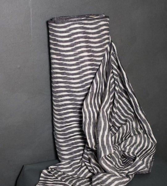Up & Over Ikat in Grey White
