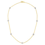 Seven Diamond 1.40 Carats Necklace 18k Two Tone
