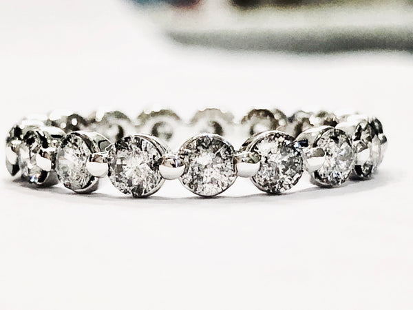 Salt and Pepper Gray Diamond Eternity Band