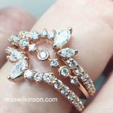 Diamond Ring Enhancer Floral Inspired Ring Guard