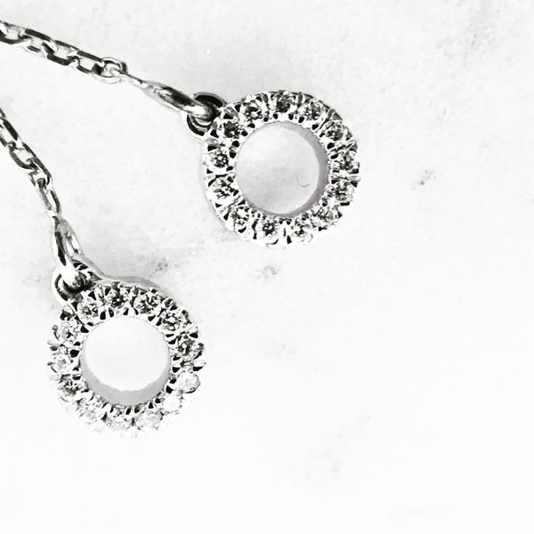 Double Sided Diamond Chain Threader Earrings