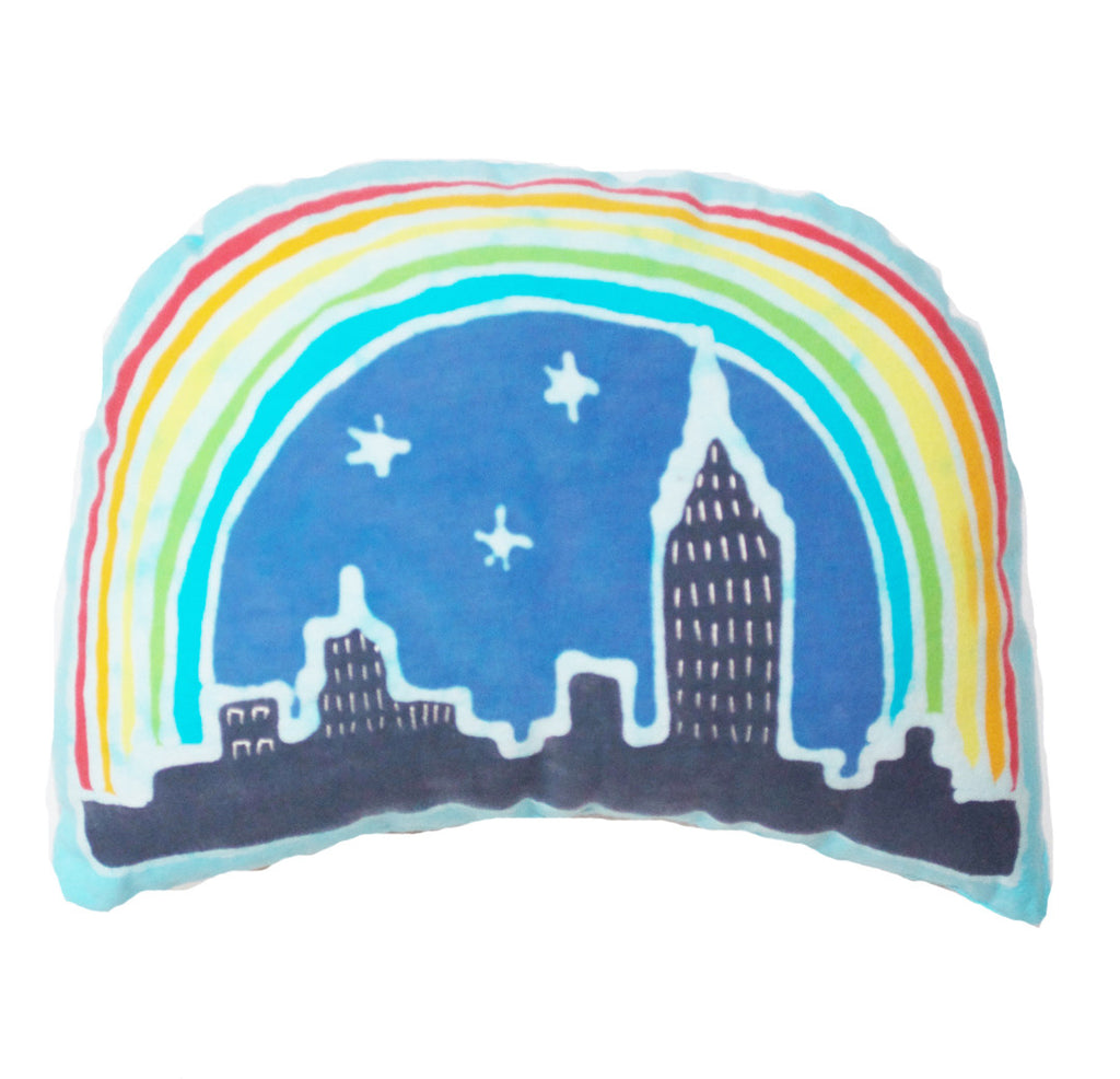 NYC Rainbow Skyline Memory Threads Collab