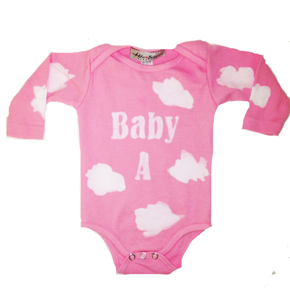 Personalized Clouds Onesie (short or long sleeve available)