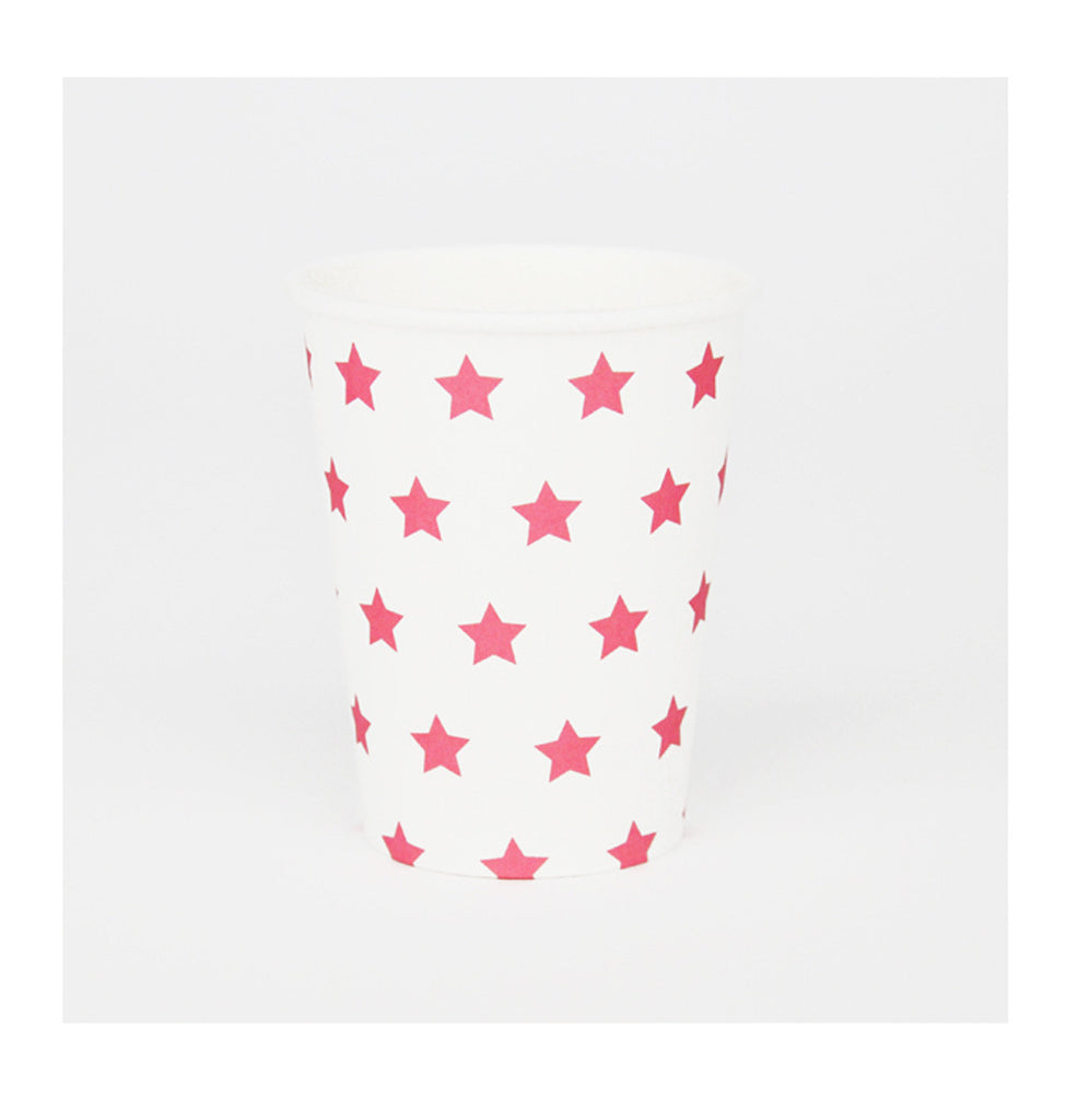 Bright Pink Stars Party Cups