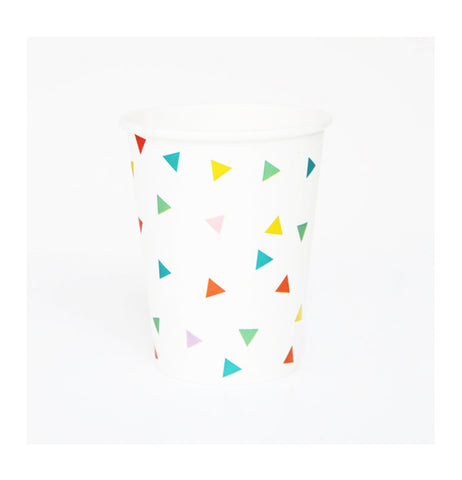 Multicolor Triangles Party Cups