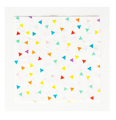 Multicolor Triangles Napkins