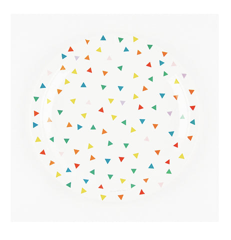 Multicolor Triangles Party Plates