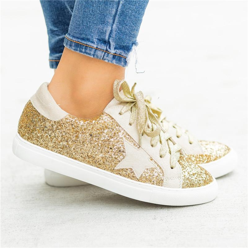 Women Comfy Daily Lace-up Multi Snake Sneaker