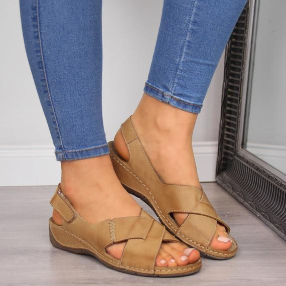 Ladies Comfy Leather Belt Fashion Sandals