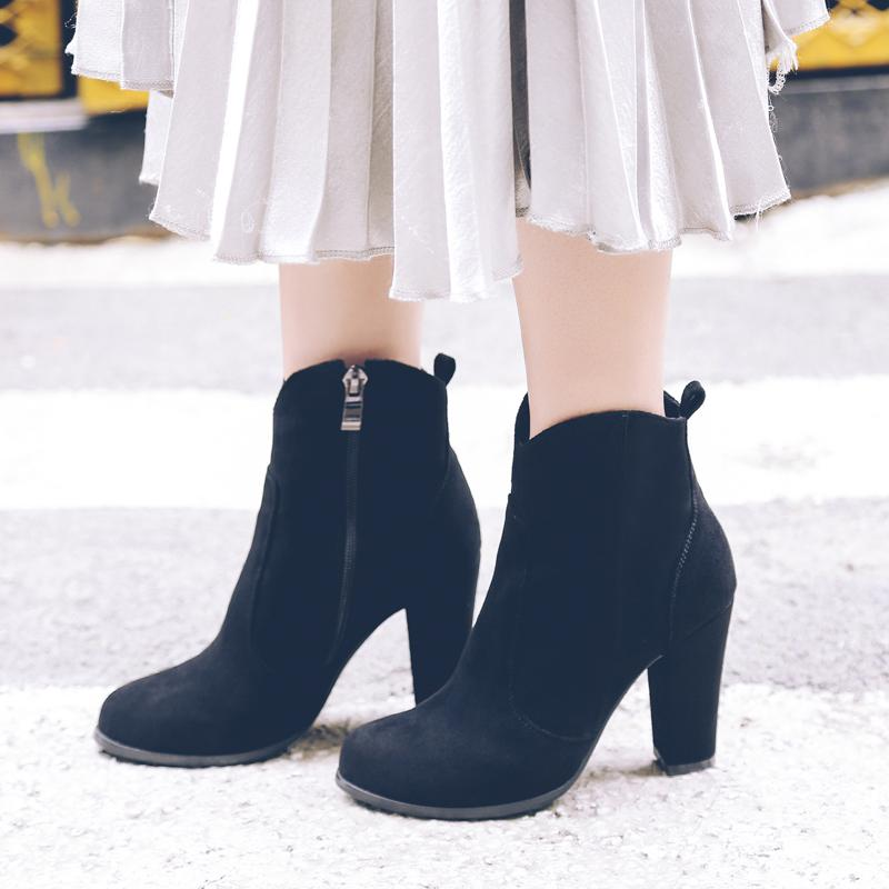 Woman High Heels Ankle Boots