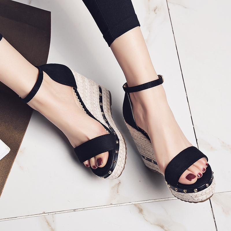 Women Ankle Strap Wedge Sandal