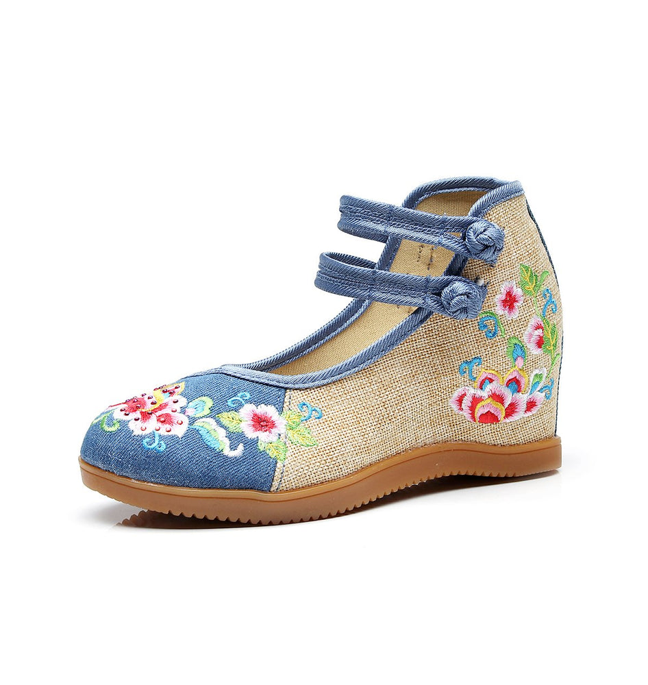 Women Flats Embroidered Shoes