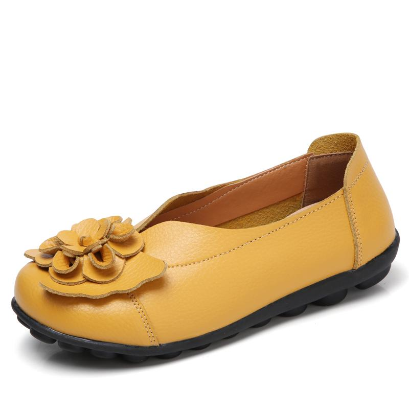Women's Comfy Leather Flat All Season Loafers