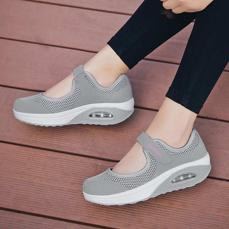 Women's Fashion Flying Woven Cosy Walking Shoes-shoeri