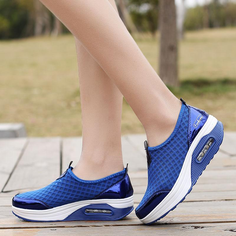 Women's Mesh Air Cushion Shake Sneakers-shoeri