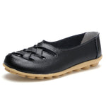Women's Soft Leather Comfortable Breathable Hollow-out Loafers