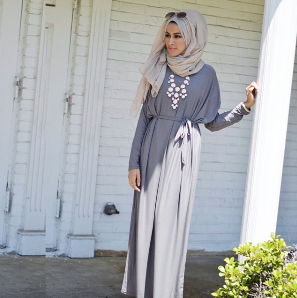Modest Gray Maxi Dress