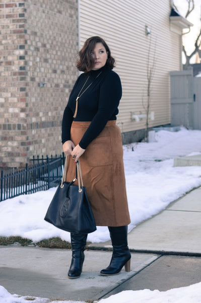 Modest Suede Skirt