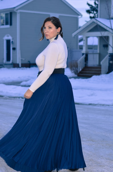 Modest Blue Maxi Skirt