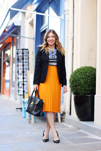 Modest Orange Skirt