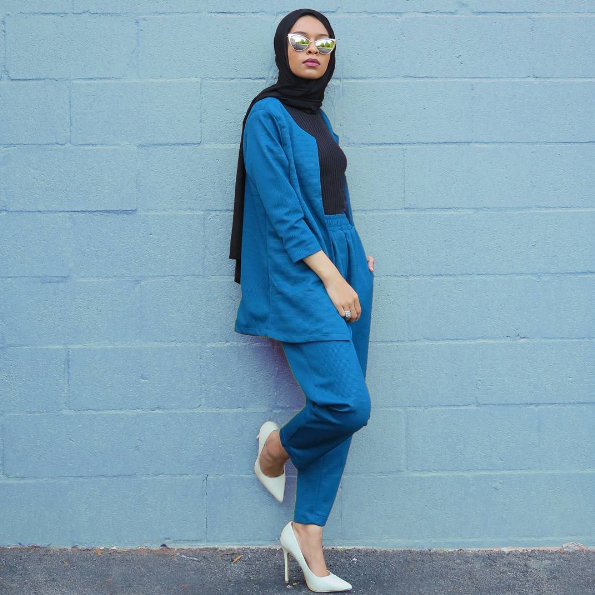 Modest in Blue