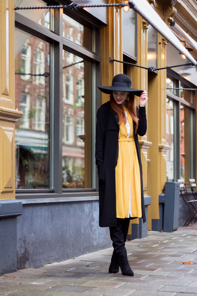 Modest Yellow Dress