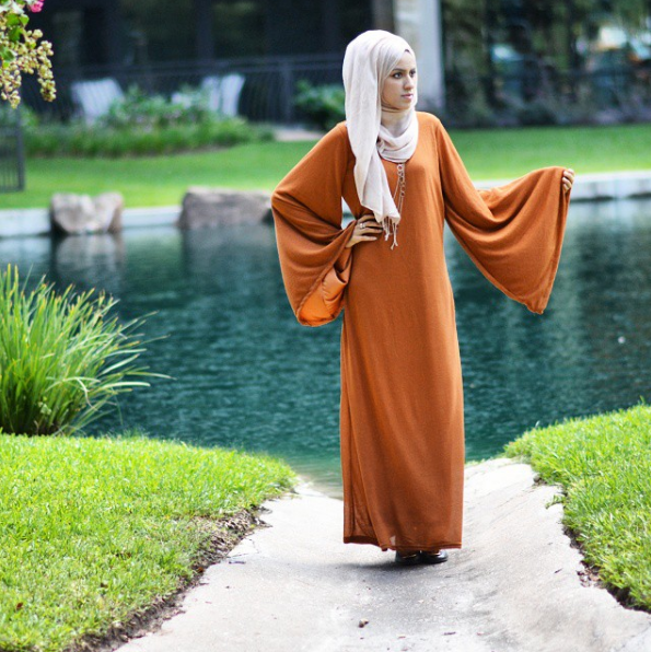 Modest Burnt Orange Dress
