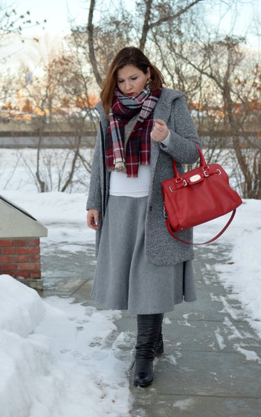 Modest Gray Skirt