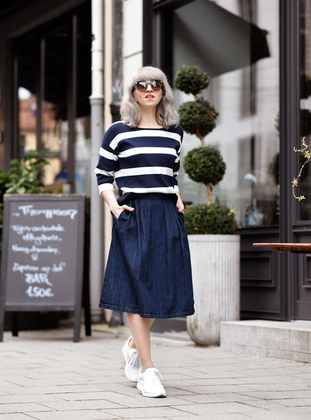 Modest Striped Top and Skirt