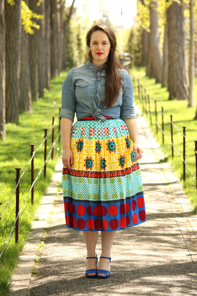 Modest Colorful Skirt