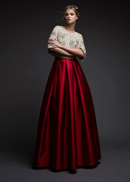 Modest Red Ball Skirt