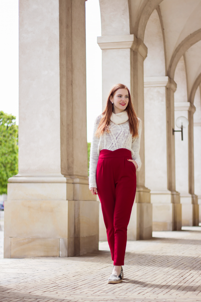 Modest Red Pants