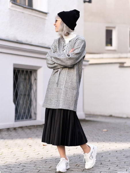 Modest in Gray and Black