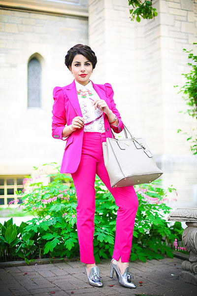 Modest Pink Pants and Blazer
