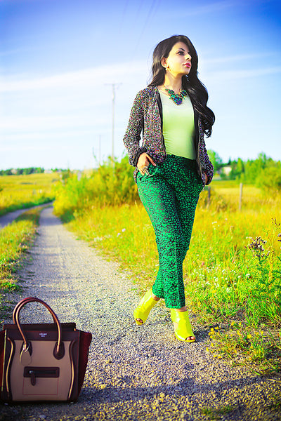 Modest Green Pants