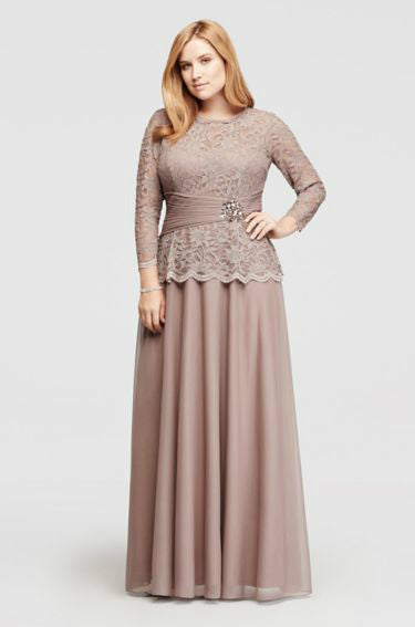 Modest Plus Size Gown