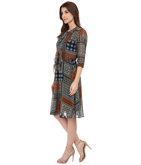 Modest Patchwork Dress