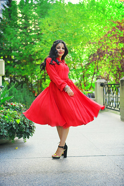 Modest Red Dress