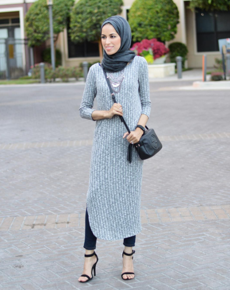 Modest Gray Dress