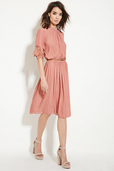 Modest Blush Midi Dress
