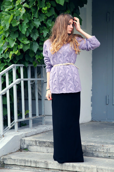 Modest Black Maxi Skirt