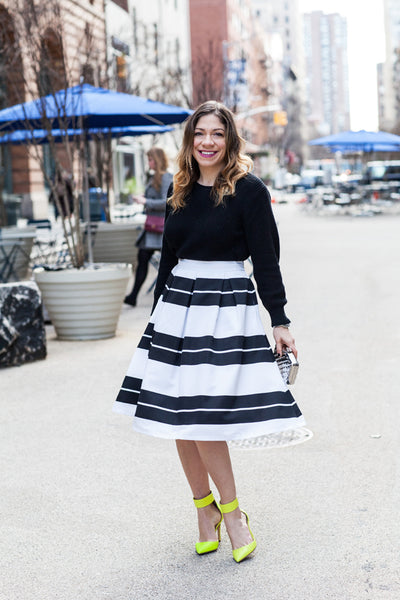 Modest Striped Skirt