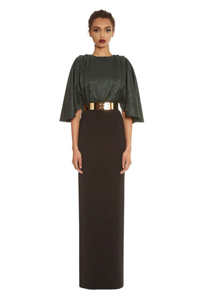 Modest Belted Gown